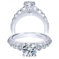 Taryn 14k White Gold Round Straight Engagement Ring TE8443W44JJ