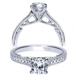 Taryn 14k White Gold Round Straight Engagement Ring TE8594W44JJ