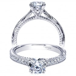 Taryn 14k White Gold Round Straight Engagement Ring TE8818W44JJ