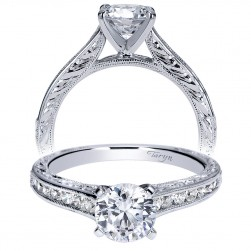Taryn 14k White Gold Round Straight Engagement Ring TE8831W44JJ