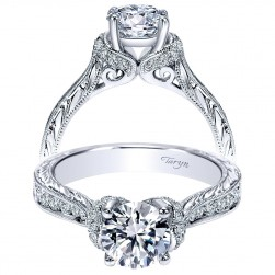 Taryn 14k White Gold Round Straight Engagement Ring TE8852W44JJ