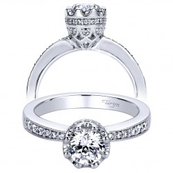 Taryn 14k White Gold Round Straight Engagement Ring TE9302W44JJ