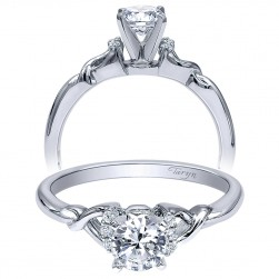 Taryn 14k White Gold Round Twisted Engagement Ring TE10498W44JJ