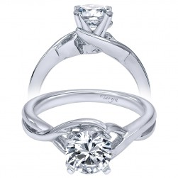 Taryn 14k White Gold Round Twisted Engagement Ring TE10500W4JJJ