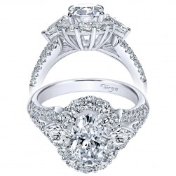 Taryn 18K White Gold Oval Halo Engagement Ring TE8942W83JJ
