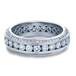 Verragio Platinum Eterna Wedding Band Eterna-4009 M