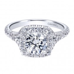 Gabriel 14 Karat Contemporary Engagement Ring ER10290W44JJ