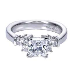 Gabriel 14 Karat Contemporary Engagement Ring ER4096W44JJ