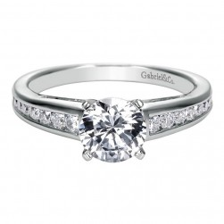 Gabriel 14 Karat Contemporary Engagement Ring ER7889W44JJ