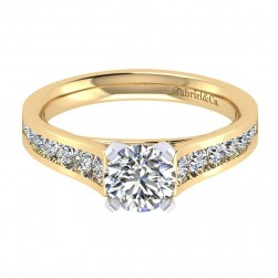 Gabriel 14 Karat Contemporary Engagement Ring ER8224M44JJ