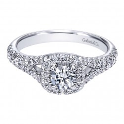 Gabriel 14 Karat Contemporary Engagement Ring ER910099W44JJ