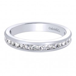 Gabriel 14 Karat Contemporary Wedding Band WB9692W44JJ