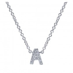 Gabriel Fashion 14 Karat Initial Initial Necklace NK4577A-W45JJ