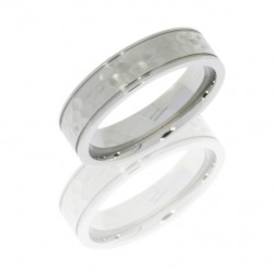 Lashbrook 6F2.5W HAMMER-POLISH Titanium Wedding Ring or Band