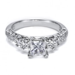 Tacori Crescent Platinum Engagement Ring HT2365PRP12