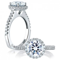 A.JAFFE Platinum Signature Engagement Ring MES569