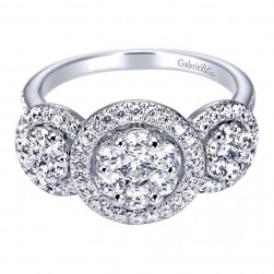 Gabriel 14 Karat Contemporary Engagement Ring ER94318W44JJ