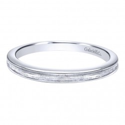 Gabriel 14 Karat Contemporary Wedding Band WB10091W4JJJ