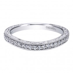 Gabriel 14 Karat Contemporary Wedding Band WB10222W44JJ