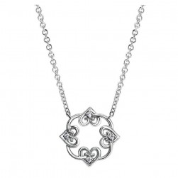 Gabriel Fashion Silver Blossoming Heart Necklace NK4007SV5JJ