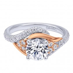 Gabriel 14 Karat Contemporary Engagement Ring ER10305T44JJ
