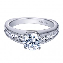 Gabriel 14 Karat Contemporary Engagement Ring ER4183W44JJ