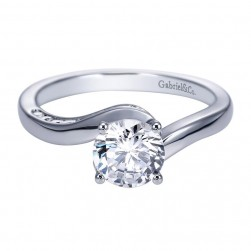 Gabriel 14 Karat Contemporary Engagement Ring ER7909W44JJ
