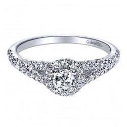 Gabriel 14 Karat Contemporary Engagement Ring ER98575W44JJ