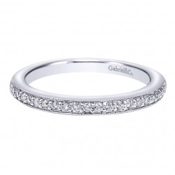Gabriel 14 Karat Contemporary Wedding Band WB10794W44JJ