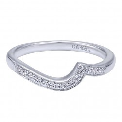 Gabriel 14 Karat Contemporary Wedding Band WB10948W44JJ