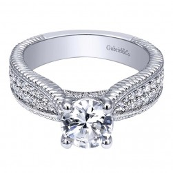 Gabriel 14 Karat Contemporary Engagement Ring ER10248W44JJ
