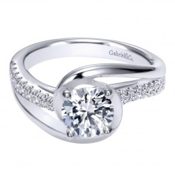 Gabriel 14 Karat Contemporary Engagement Ring ER10309W44JJ