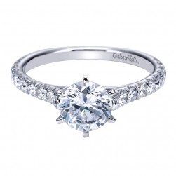 Gabriel 14 Karat Contemporary Engagement Ring ER7430W44JJ