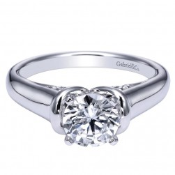 Gabriel 14 Karat Contemporary Engagement Ring ER9025W4JJJ