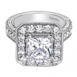 Gabriel 14 Karat Contemporary Engagement Ring ER9251W44JJ