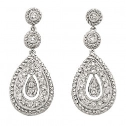 Gabriel Fashion 14 Karat Hampton Diamond Drop Earrings EG9341W44JJ