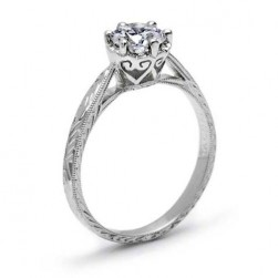 Tacori Platinum Solitaire Engagement Ring 10018