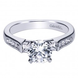 Gabriel 14 Karat Contemporary Engagement Ring ER3995W44JJ