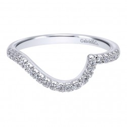 Gabriel 14 Karat Contemporary Wedding Band WB10304W44JJ