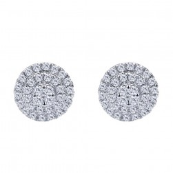 Gabriel Fashion 14 Karat Clustered Diamonds Stud Earrings EG12225W45JJ