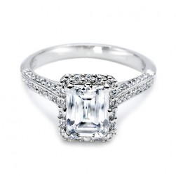 Tacori Platinum Solitaire Engagement Ring 2502EMP7X5