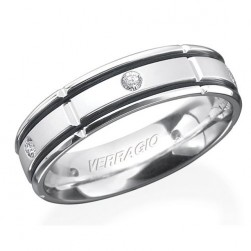 Verragio Platinum In-Gauge Diamond Wedding Band RUD-6965
