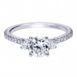 Gabriel 14 Karat Contemporary Engagement Ring ER7295W44JJ