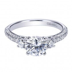Gabriel 14 Karat Contemporary Engagement Ring ER7465W44JJ