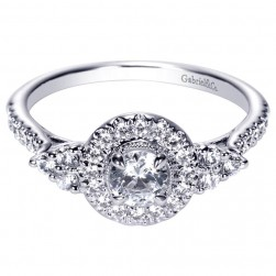Gabriel 14 Karat Contemporary Engagement Ring ER98994W44JJ