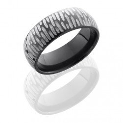 Lashbrook Z7D Silver DISC 2 Zirconium Wedding Ring or Band