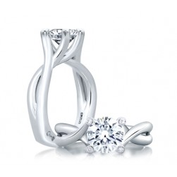 A.JAFFE Platinum Signature Engagement Ring MES463