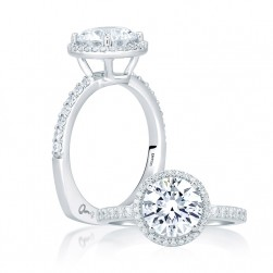 A.JAFFE Platinum Signature Engagement Ring MES638