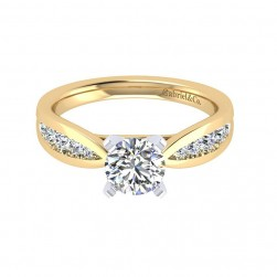 Gabriel 14 Karat Contemporary Engagement Ring ER8188M44JJ