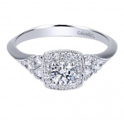 Gabriel 14 Karat Contemporary Engagement Ring ER911600R0W44JJ